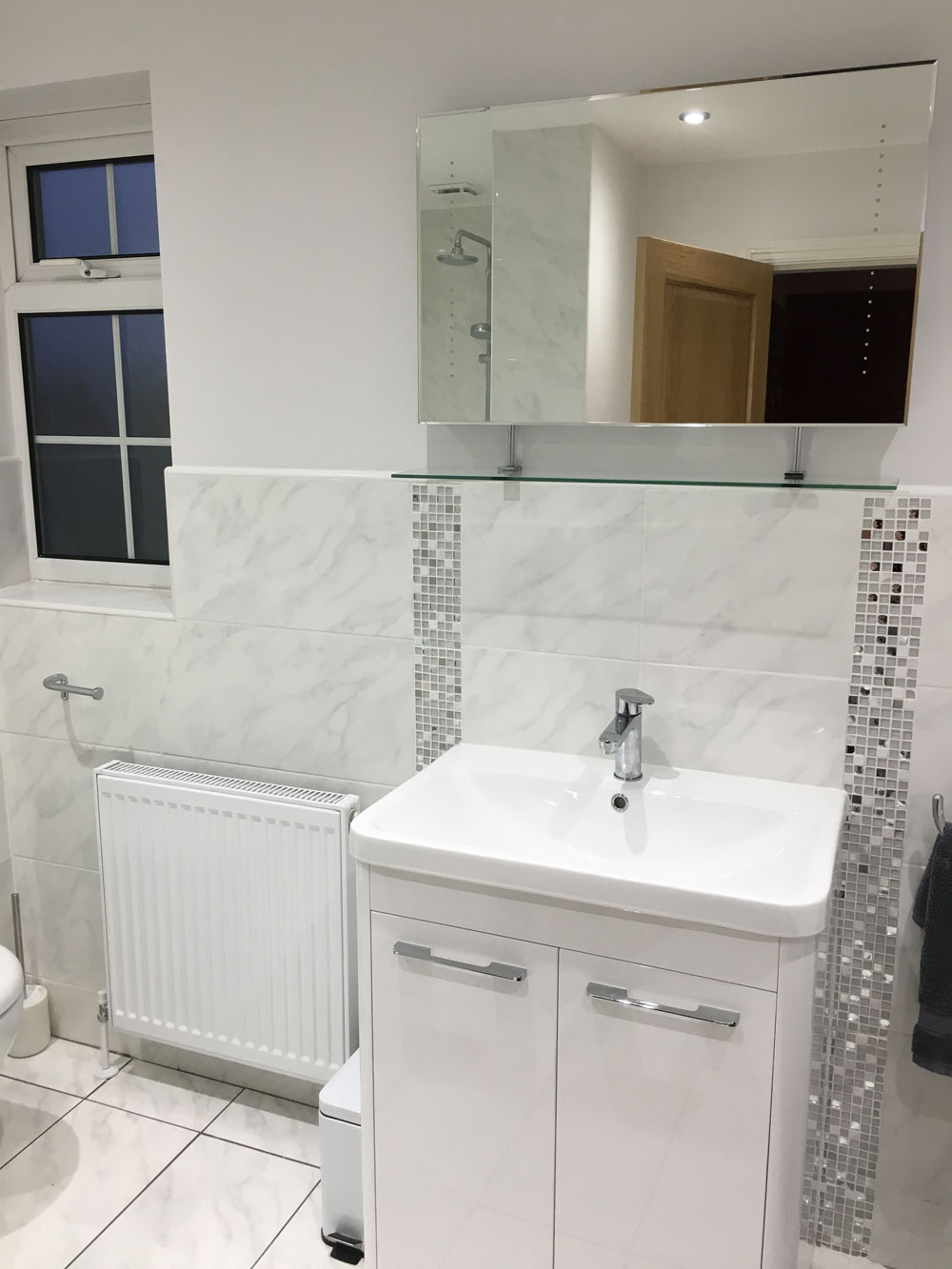New bathroom in kings norton birmingham installation of for Bathroom design birmingham